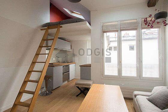 Séjour très calme équipé de 1 lit(s) mezzanine de 140cm, téléviseur, chaine hifi, 1 fauteuil(s)