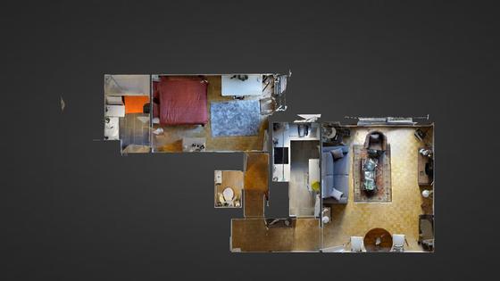 Appartement Paris 15° - Plan interactif