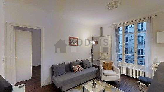 Very quiet living room furnished with 1 sofabed(s) of 140cm, tv, 1 armchair(s)