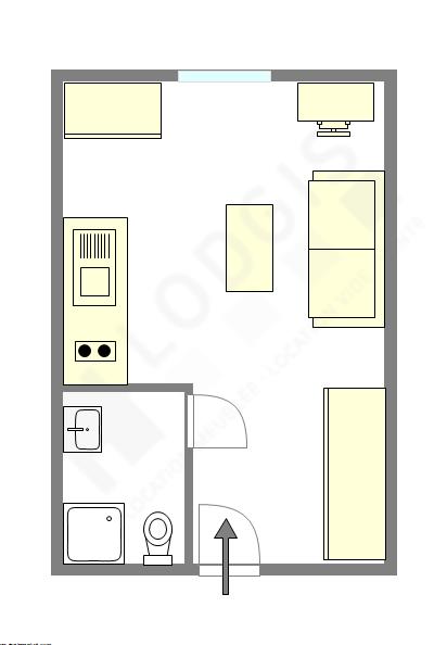Apartamento París 5° - Plano interactivo