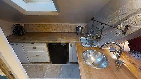 Kitchen facing the road