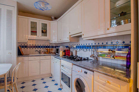 Magnifique cuisine de 11m² avec du carrelage au sol