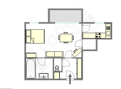 Appartement Haut de seine Nord - Plan interactif