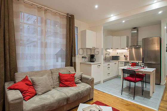 Very quiet living room furnished with 1 sofabed(s), tv, storage buffet, 2 chair(s)