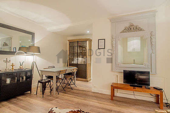 Grand salon de 30m² avec du parquet au sol