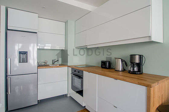 Great kitchen with concrete floor