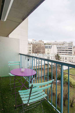 Balcony with view on garden