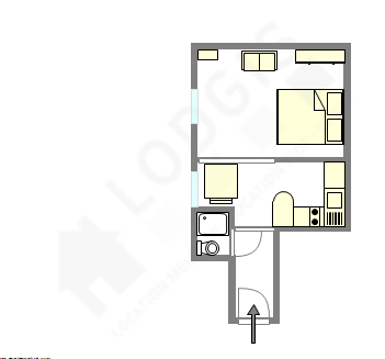 Appartement Paris 14° - Plan interactif