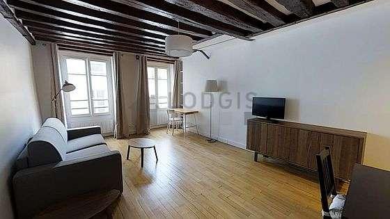Séjour très calme équipé de 1 canapé(s) lit(s) de 140cm, téléviseur, commode, 3 chaise(s)