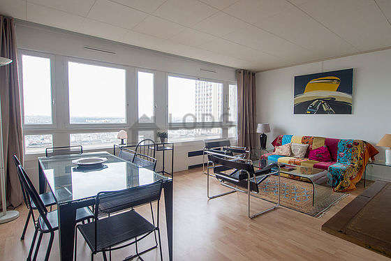 Quiet living room furnished with 1 sofabed(s) of 140cm, tv, 1 armchair(s), 6 chair(s)