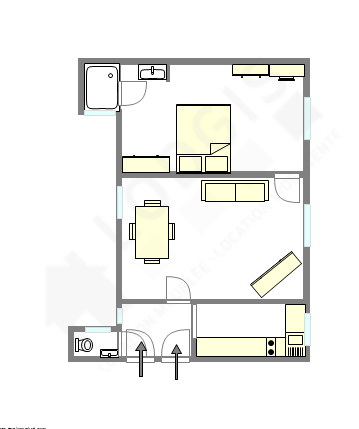 Wohnung Paris 14° - Interaktiven Plan