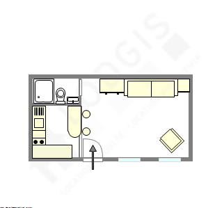 公寓 巴黎2区 - 互動圖