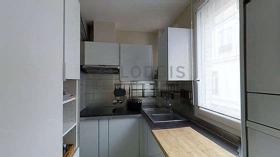 Great kitchen with its wooden floor