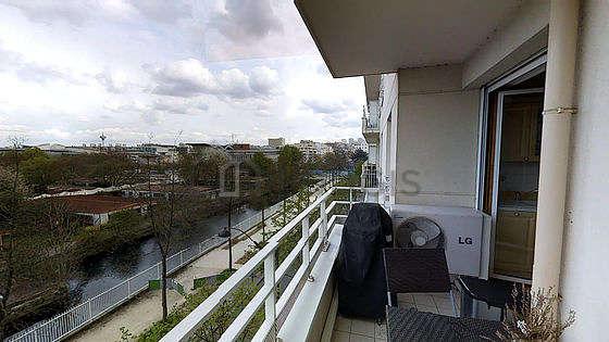 Balcony facing due east