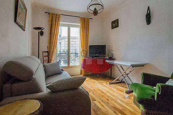 Very quiet living room furnished with 1 sofabed(s), tv, 1 armchair(s), 1 chair(s)