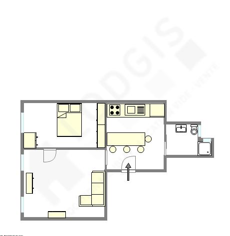Apartamento Paris 9° - Plano interativo