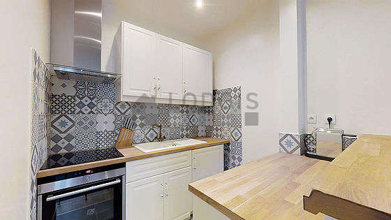Great kitchen of 3m² with tile floor