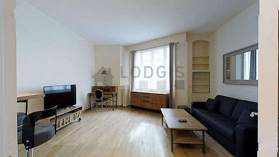 Quiet living room furnished with 1 sofabed(s) of 160cm, tv, 1 armchair(s), 2 chair(s)
