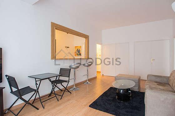 Séjour très calme équipé de 1 canapé(s) lit(s) de 140cm, téléviseur, placard, 3 chaise(s)