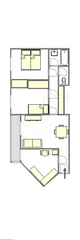 Appartamento Val de Marne Est - Piantina interattiva