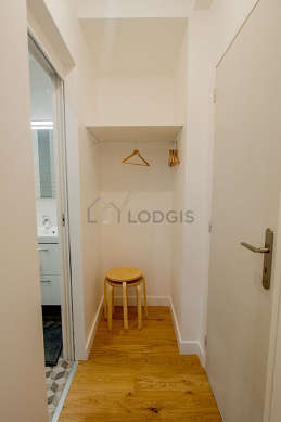 Very beautiful laundry room with its wooden floor