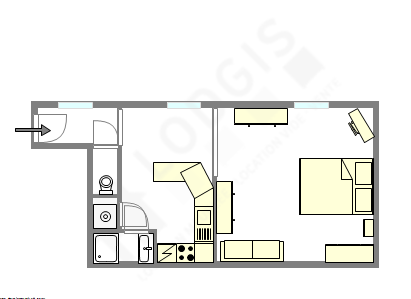 公寓 巴黎5区 - 互動圖