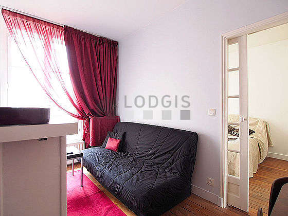 Very quiet living room furnished with 1 sofabed(s) of 140cm, sofa, coffee table, 6 chair(s)