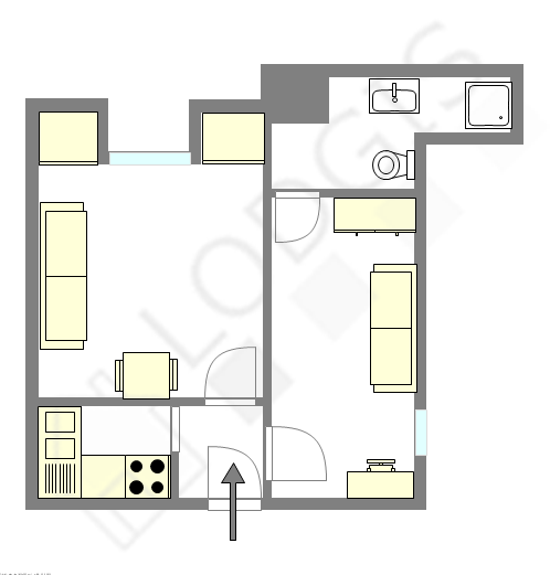 Appartement Paris 9° - Plan interactif