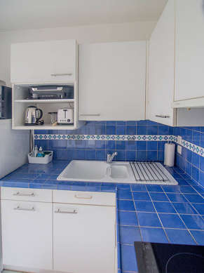 Very bright kitchen facing the road
