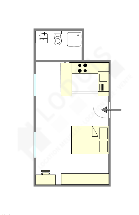 Apartment Paris 2° - Interactive plan