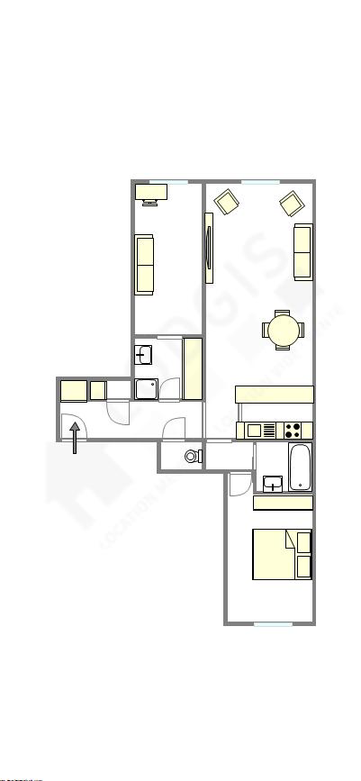 Квартира Haut de seine Nord - Интерактивный план