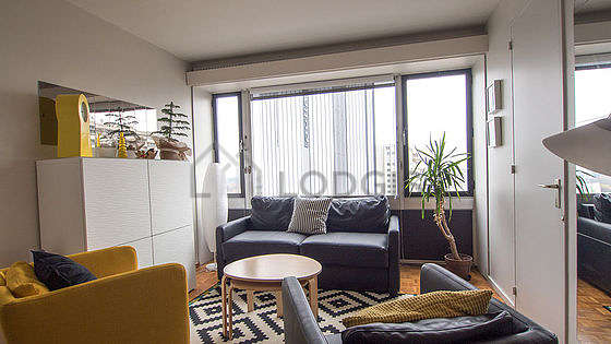 Quiet living room furnished with 1 sofabed(s), tv, 2 armchair(s), 4 chair(s)