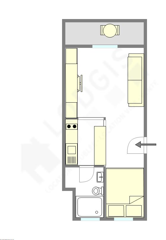 公寓 巴黎19区 - 互動圖