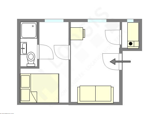 Appartamento Parigi 14° - Piantina interattiva