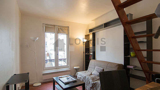 Very quiet living room furnished with 1 sofabed(s) of 140cm, tv, hi-fi stereo, 1 chair(s)