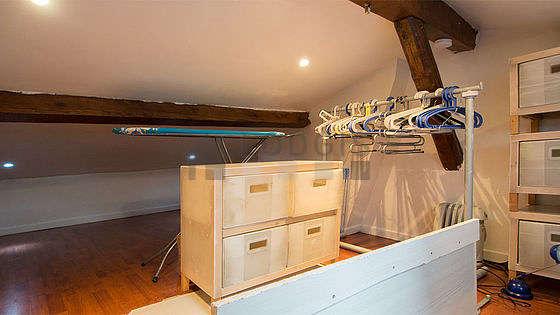 Beautiful mezzanine equipped with wardrobe, storage space