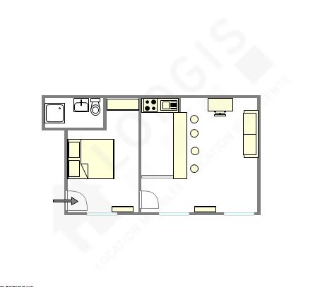Apartamento París 3° - Plano interactivo