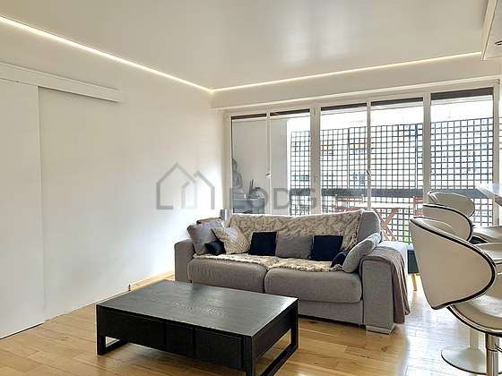 Very quiet living room furnished with 1 sofabed(s), tv, 1 armchair(s)