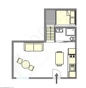 頂樓公寓 巴黎5区 - 互動圖