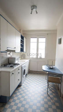 Beautiful kitchen with tile floor