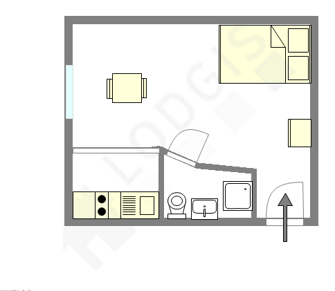 公寓 巴黎11区 - 平面图