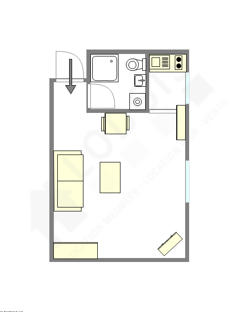 Apartment Paris 7° - Interactive plan