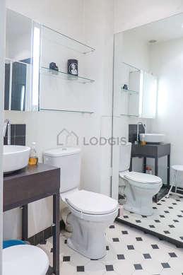 Bathroom with tile floor