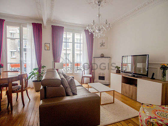 Very quiet living room furnished with 1 sofabed(s) of 140cm, tv, 1 armchair(s), 6 chair(s)