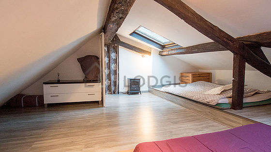Very quiet bedroom for 4 persons equipped with 2 mattress of 140cm