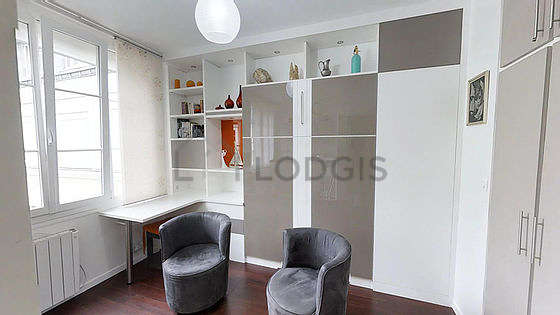 Very quiet living room furnished with 1 murphy bed(s) of 140cm, tv, 2 armchair(s), 1 chair(s)