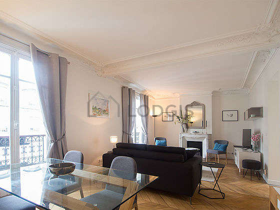 Very quiet living room furnished with 1 sofabed(s) of 120cm, tv, 2 armchair(s), 4 chair(s)