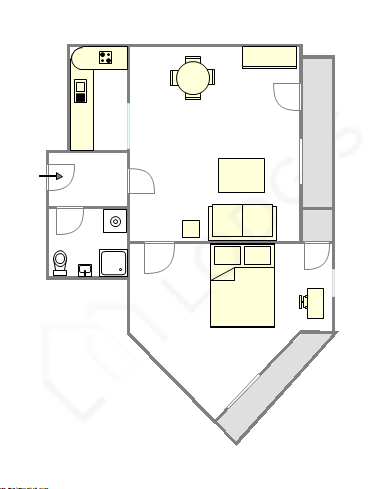 Apartment Hauts de seine - Interactive plan