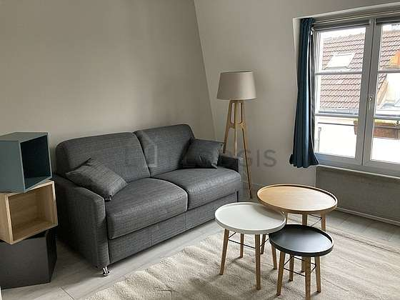 Very quiet living room furnished with 1 sofabed(s) of 160cm, sofa, 1 armchair(s), 4 chair(s)