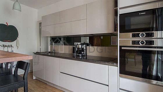 Beautiful kitchen with wooden floor